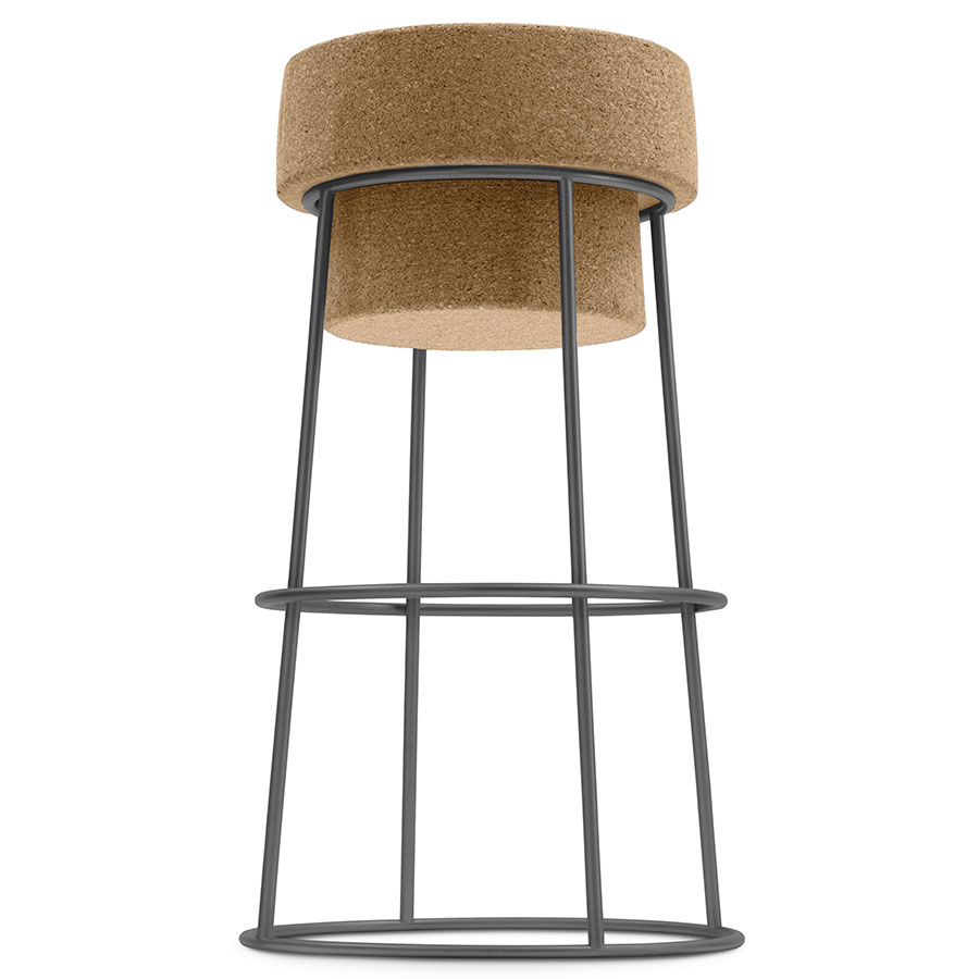 Beth Anthracite Modern Counter Stool