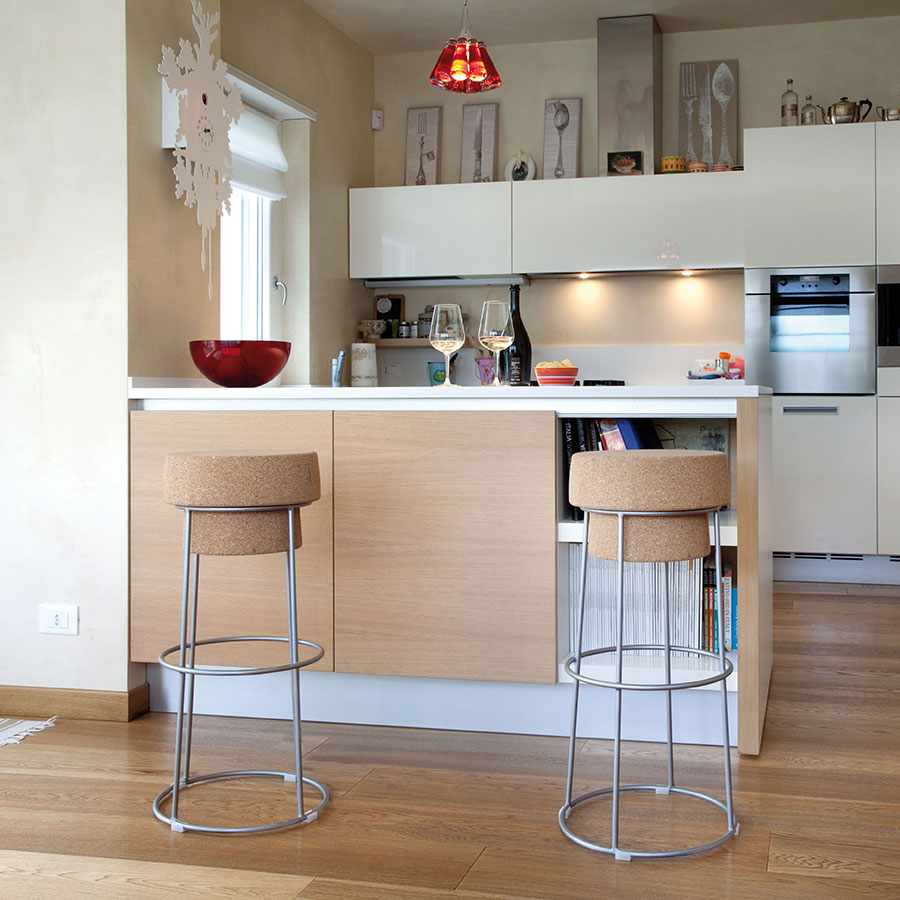 Beth Satin Contemporary Counter Stools