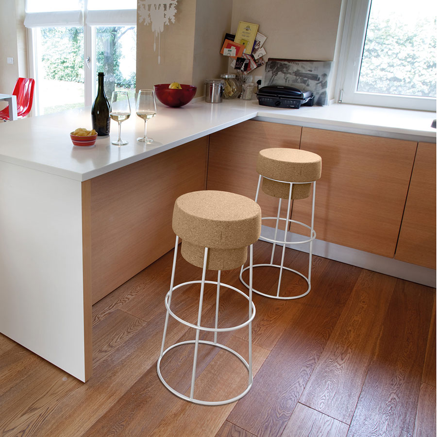 Beth White Contemporary Counter Stool
