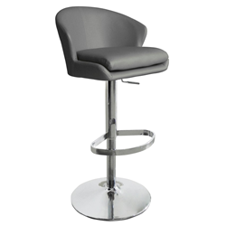 Beverly Gray Modern Adjustable Height Stool