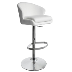 Beverly White Modern Adjustable Height Stool