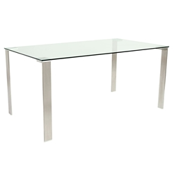 Beverly Modern Stainless Steel Dining Table