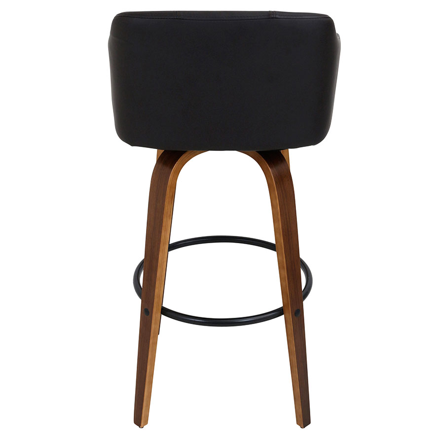 Binary Modern Walnut Bar Stool - Back View