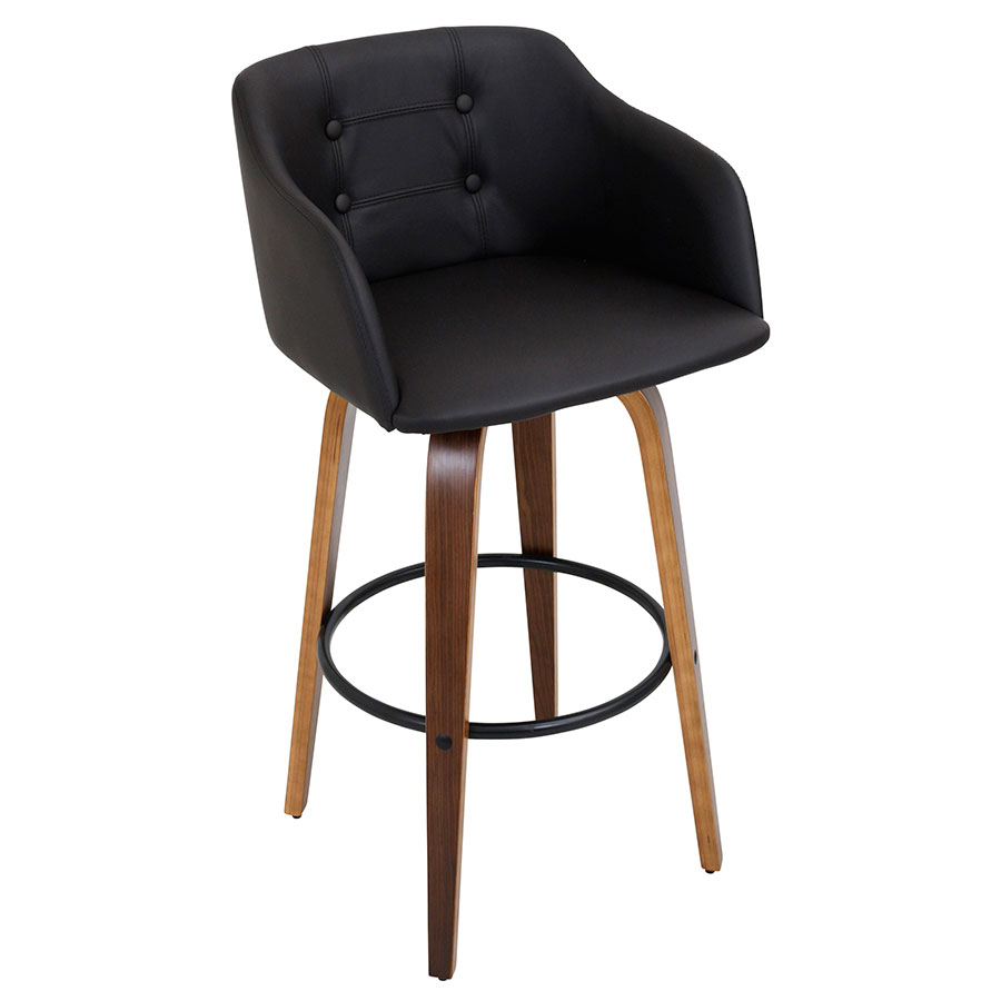 Binary Modern Walnut Bar Stool
