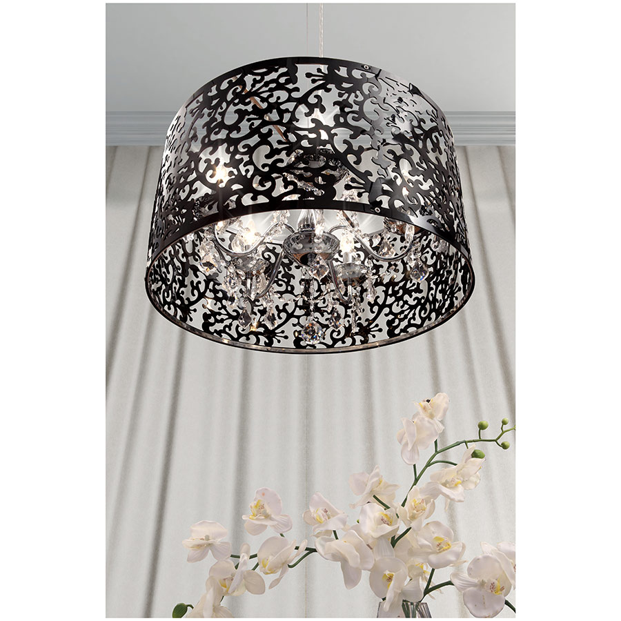 Black Lace Hanging Light
