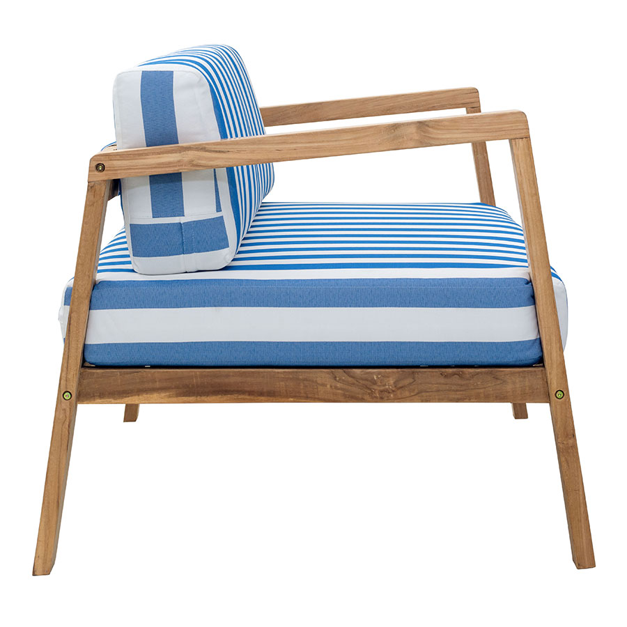 Blondie Striped Contemporary Outdoor Lounge Chair
