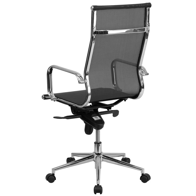Boston Modern Mesh High Back Office Chair - Back View