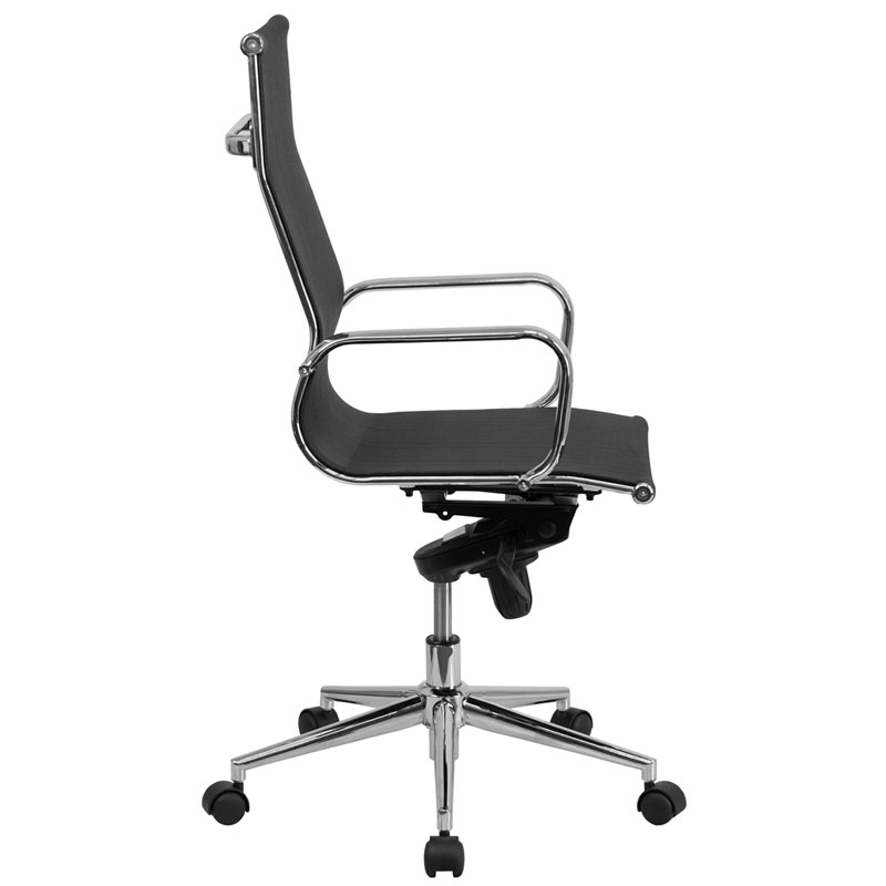 Boston Modern Mesh High Back Office Chair - Side View