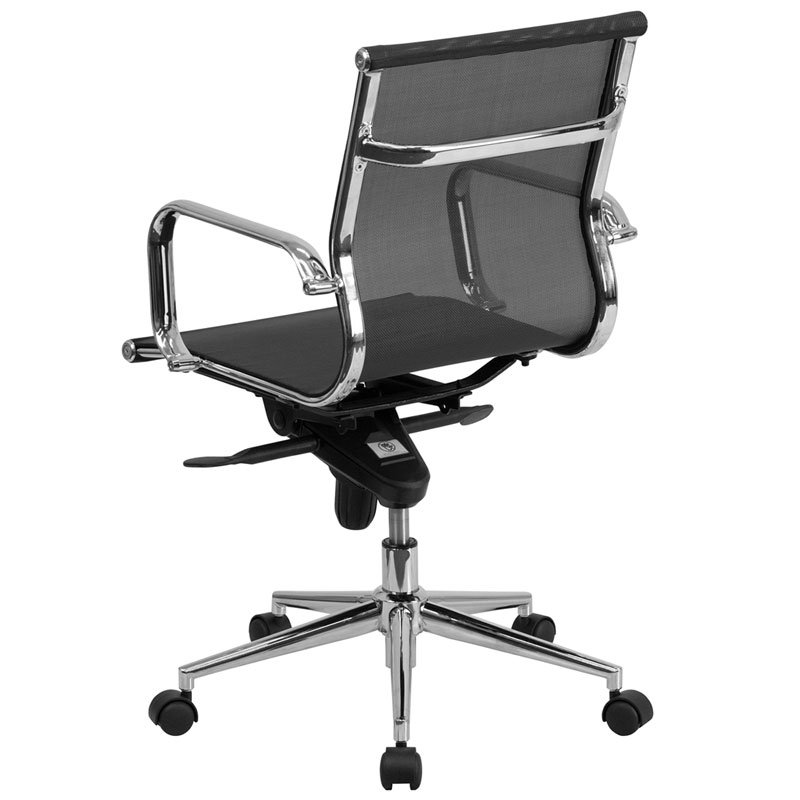 Boston Modern Mesh Low Back Office Chair - Back View