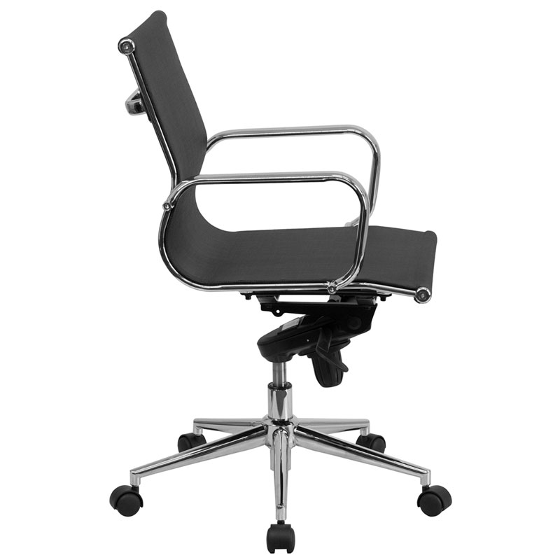 Boston Modern Mesh Low Back Office Chair - Side View