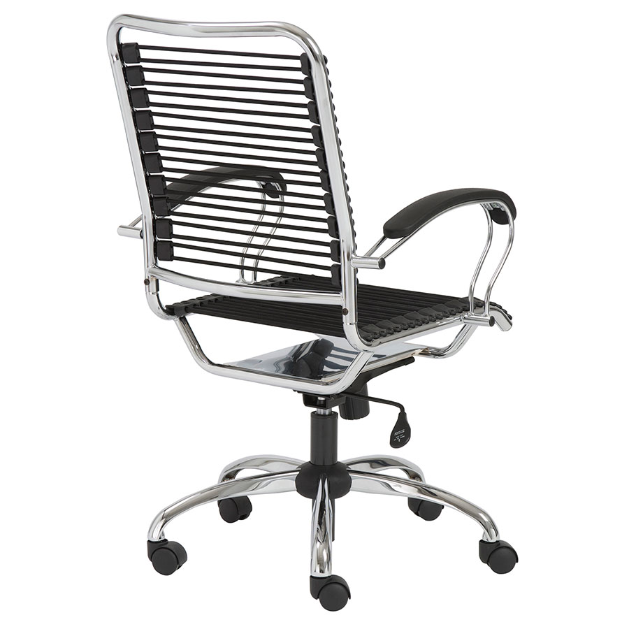 Bravo Modern Metal Arm Bungie Office Chair - Back