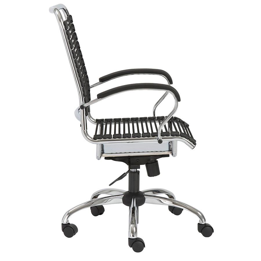 Bravo Modern Metal Arm Bungie Office Chair - Side