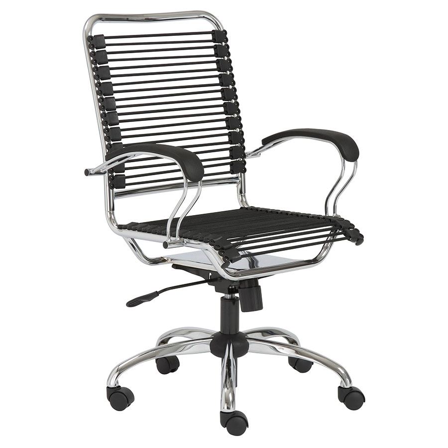 Bravo Modern Metal Arm Bungie Office Chair