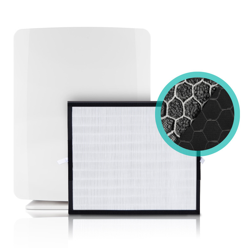 BreatheSmart Fit50 Air Purifier shown with a FreshPlus Filter