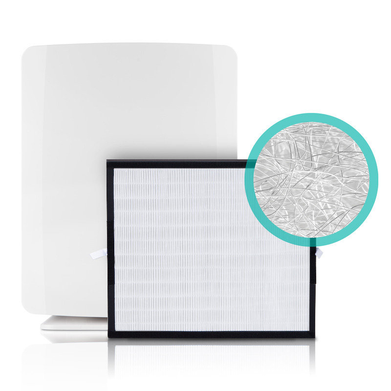 BreatheSmart Fit50 Air Purifier shown with a Silver Filter