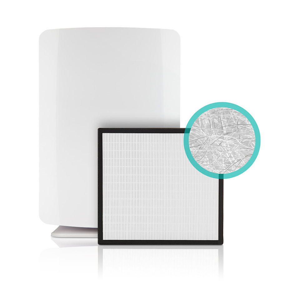 BreatheSmart Air Purifier shown with a Silver Filter