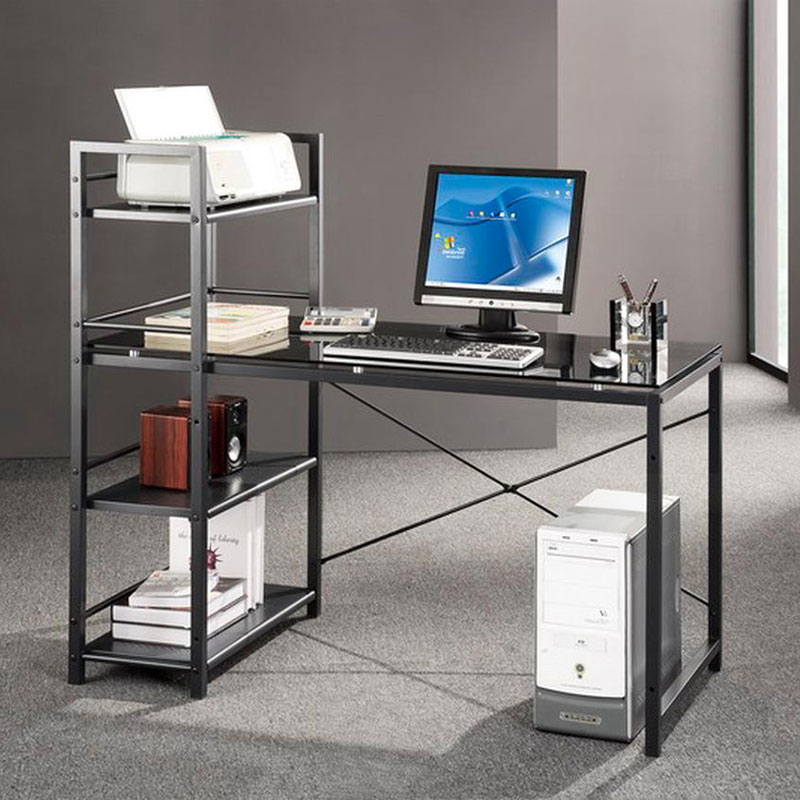 Brinkley Modern Desk + Shelving Unit