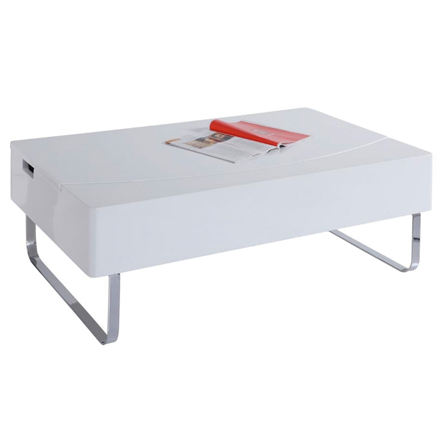 Bruges Modern White Storage Coffee Table