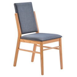 Brunswick Modern American White Oak + Gray Dining Chair