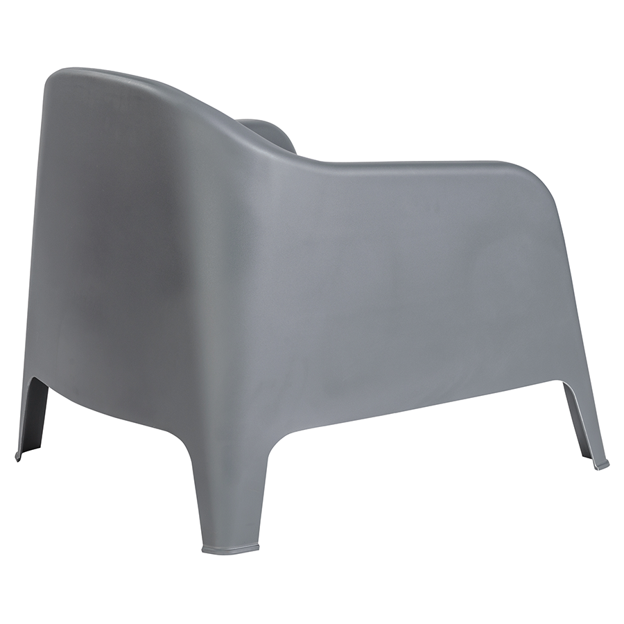 Buoy Dark Gray Polypropylene Modern Lounge Chair