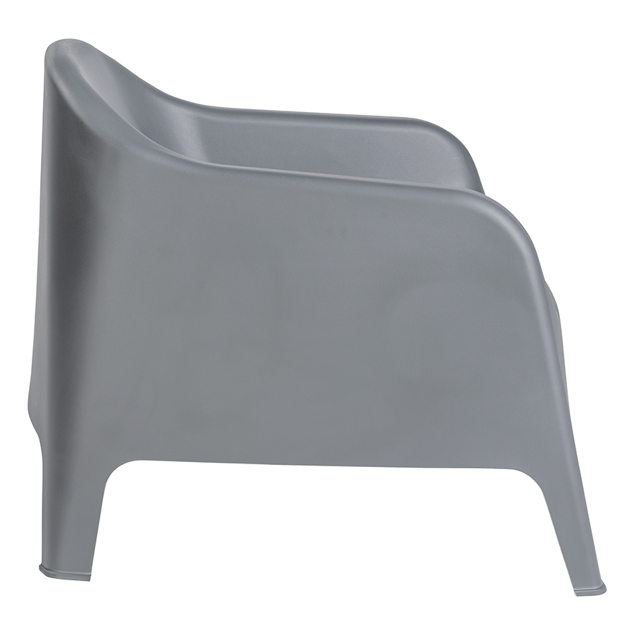 Buoy Dark Gray Polypropylene Contemporary Lounge Chair