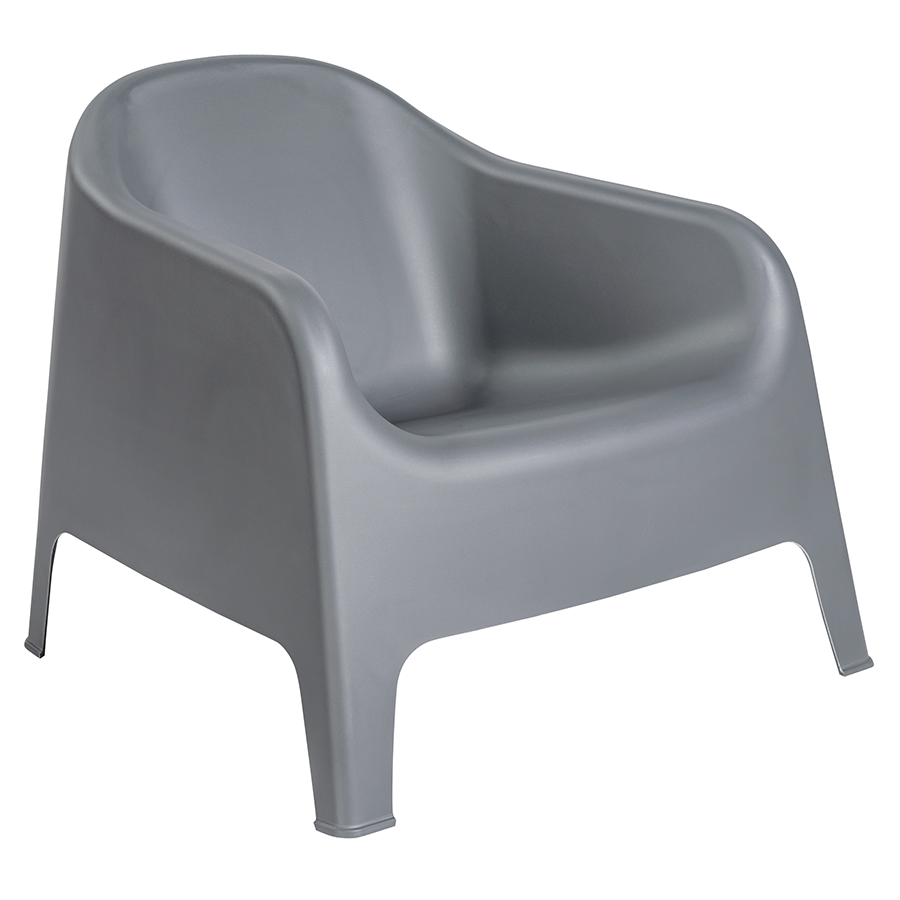 Buoy Dark Gray Modern Lounge Chair