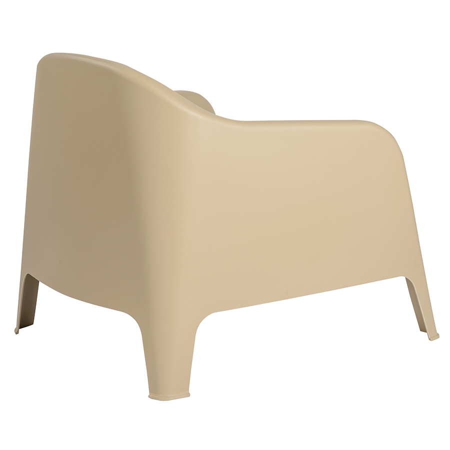 Buoy Taupe Polypropylene Contemporary Lounge Chair