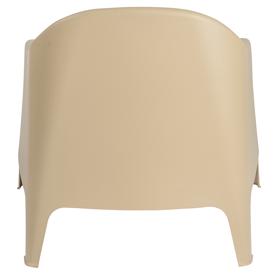 Buoy Taupe Polypropylene Stackable Modern Lounge Chair