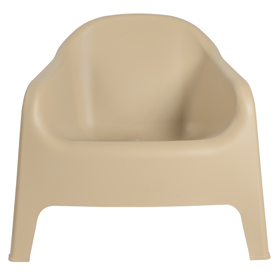 Buoy Taupe Contemporary Lounge Chair