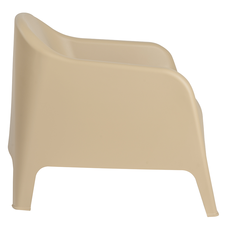 Buoy Taupe Polypropylene Modern Lounge Chair