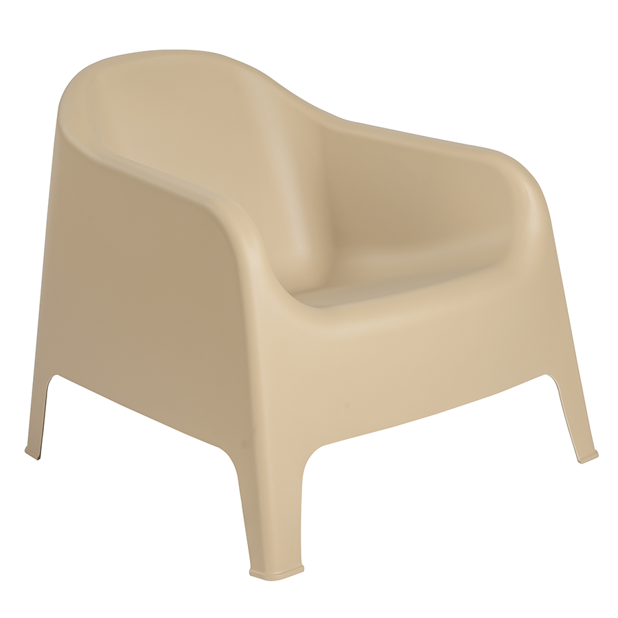 Buoy Taupe Modern Lounge Chair