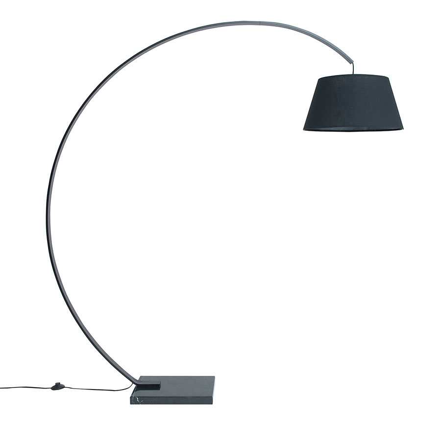 Butros Black Modern Arc Lamp
