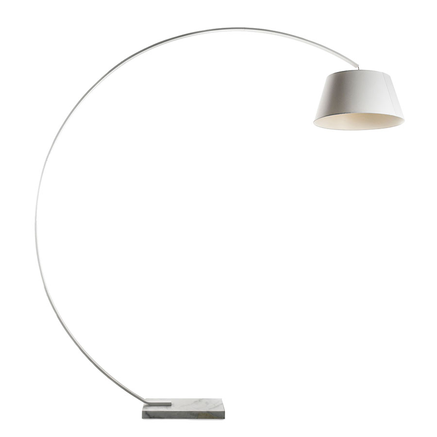 Butros White Modern Arc Lamp