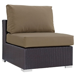 Cabo Modern Espresso and Mocha Outdoor Armless Chair