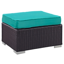 Cabo Modern Turquoise Ottoman