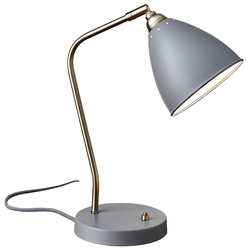 Cadiz Modern Grey Desk Lamp