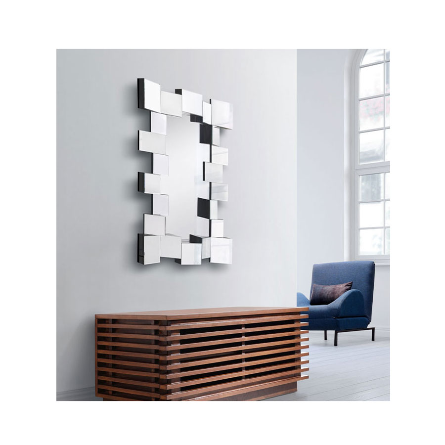 Cadoc Rectangular Contemporary Mirror