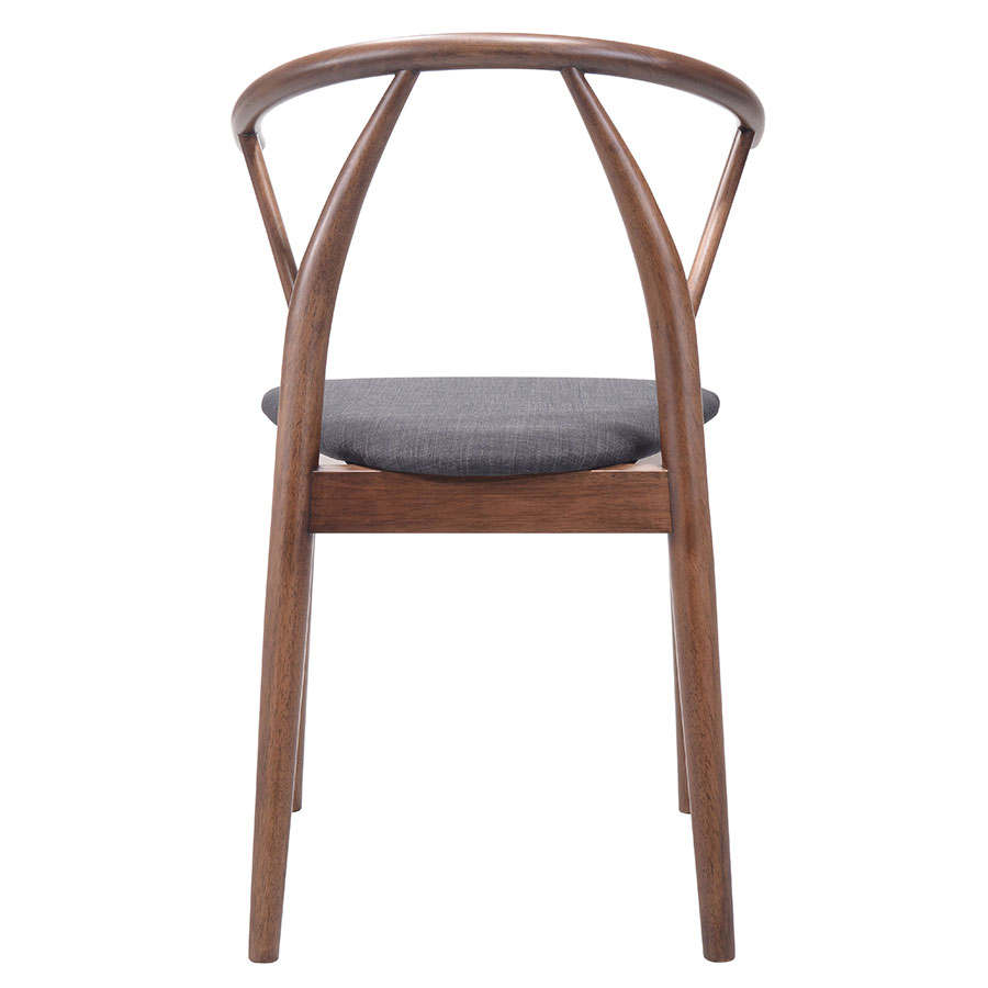 Cairo Wood + Fabric Contemporary Dining Chair