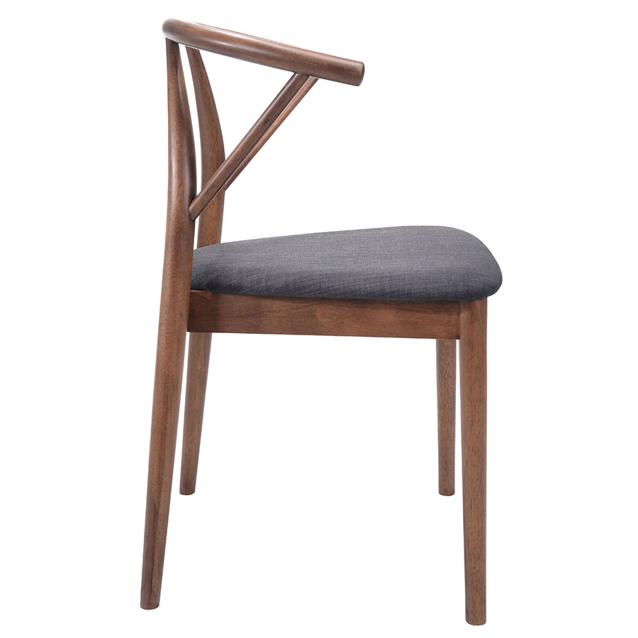 Cairo Wood + Fabric Modern Dining Chair