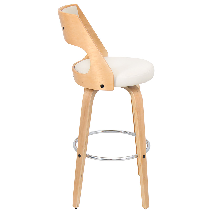 Calhoun Modern Natural + Cream Bar Stool - Side View