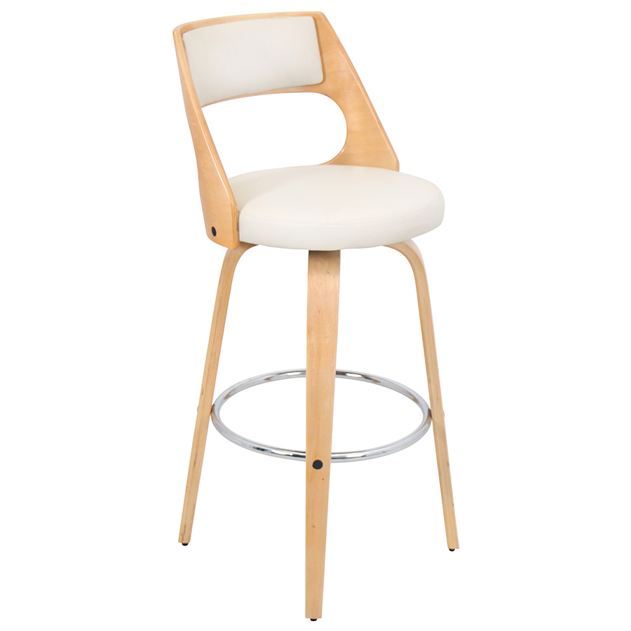 Calhoun Modern Natural + Cream Bar Stool