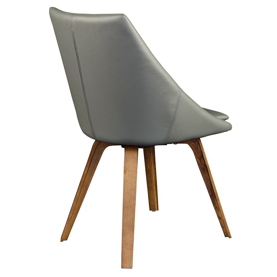 Calla Gray Leatherette Contemporary Dining Chair