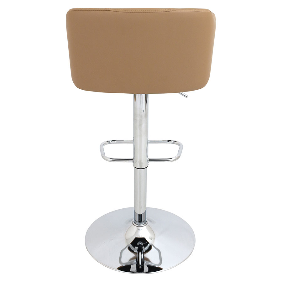 Callum Camel Leatherette Modern Adjustable Stool