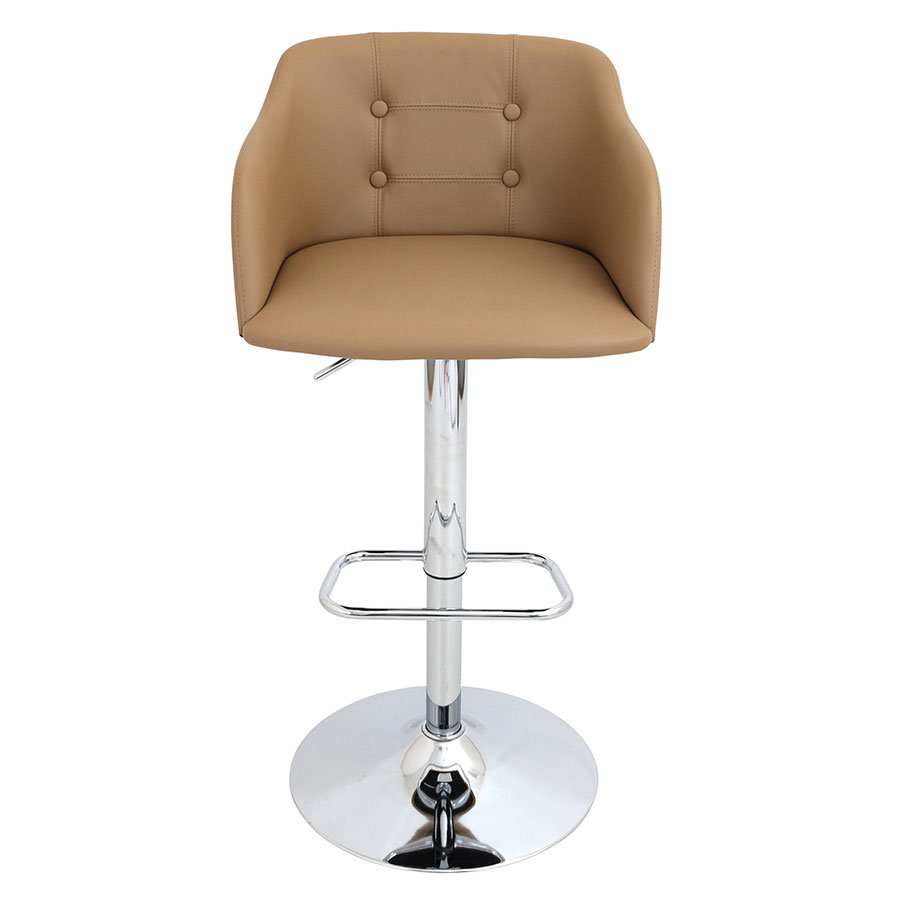Callum Camel Contemporary Adjustable Stool