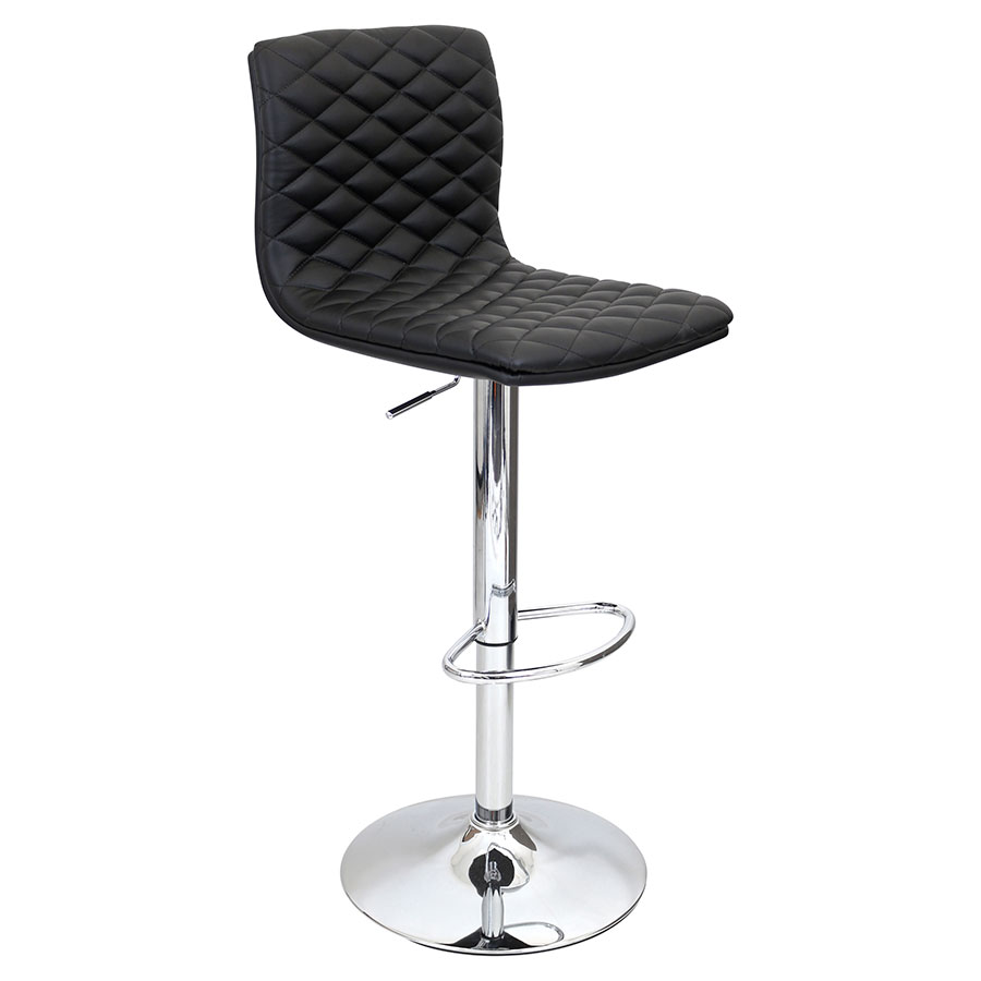 Camella Black Modern Adjustable Stool