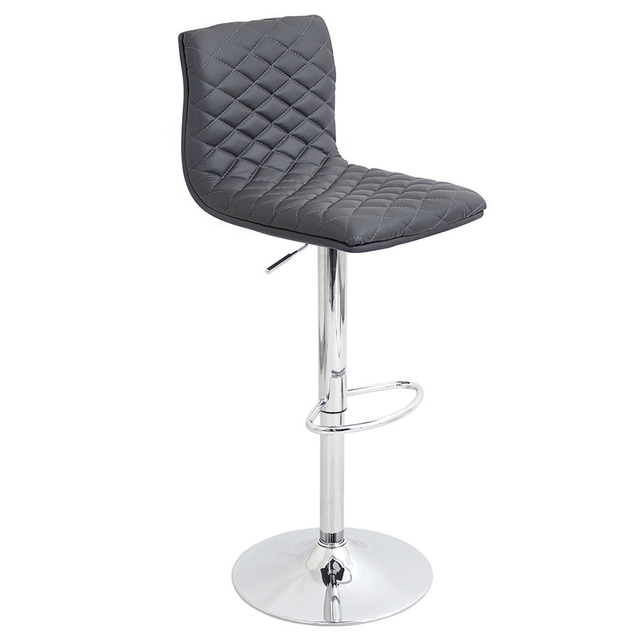 Camella Gray Modern Adjustable Stool