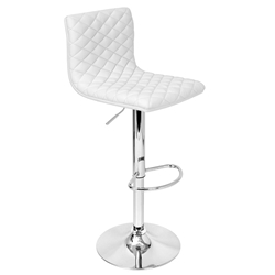 Camella White Modern Adjustable Stool