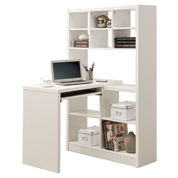 Cameron White Reversible Modern Desk Left
