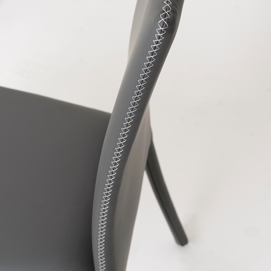 Camille Gray Modern Side Chair Detail