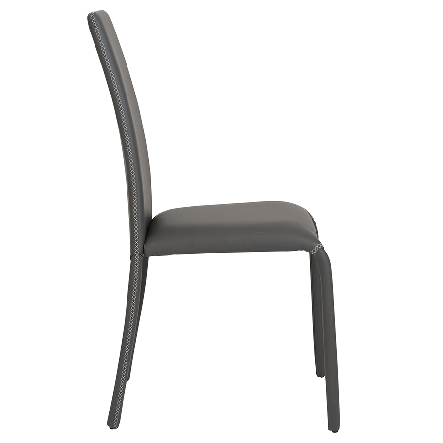 Camille Gray Leatherette Modern Dining Chair